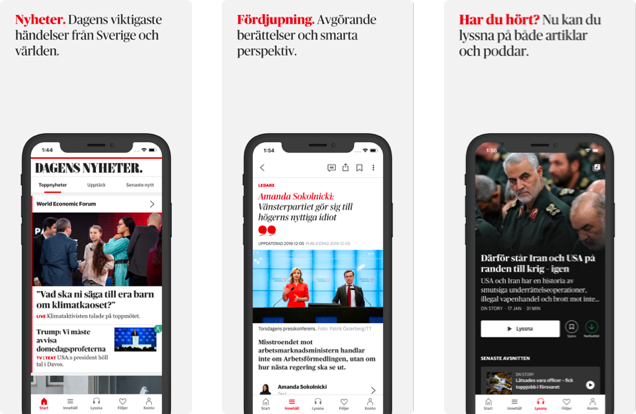Helping Dagens Nyheter redefine the Way of communicating via Mobile